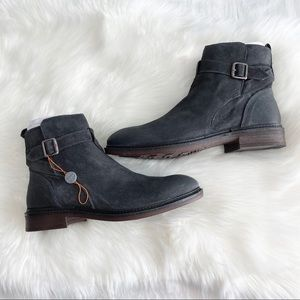 "FRANK WRIGHT ""Selby"" Suede Buckle Boot NIB"